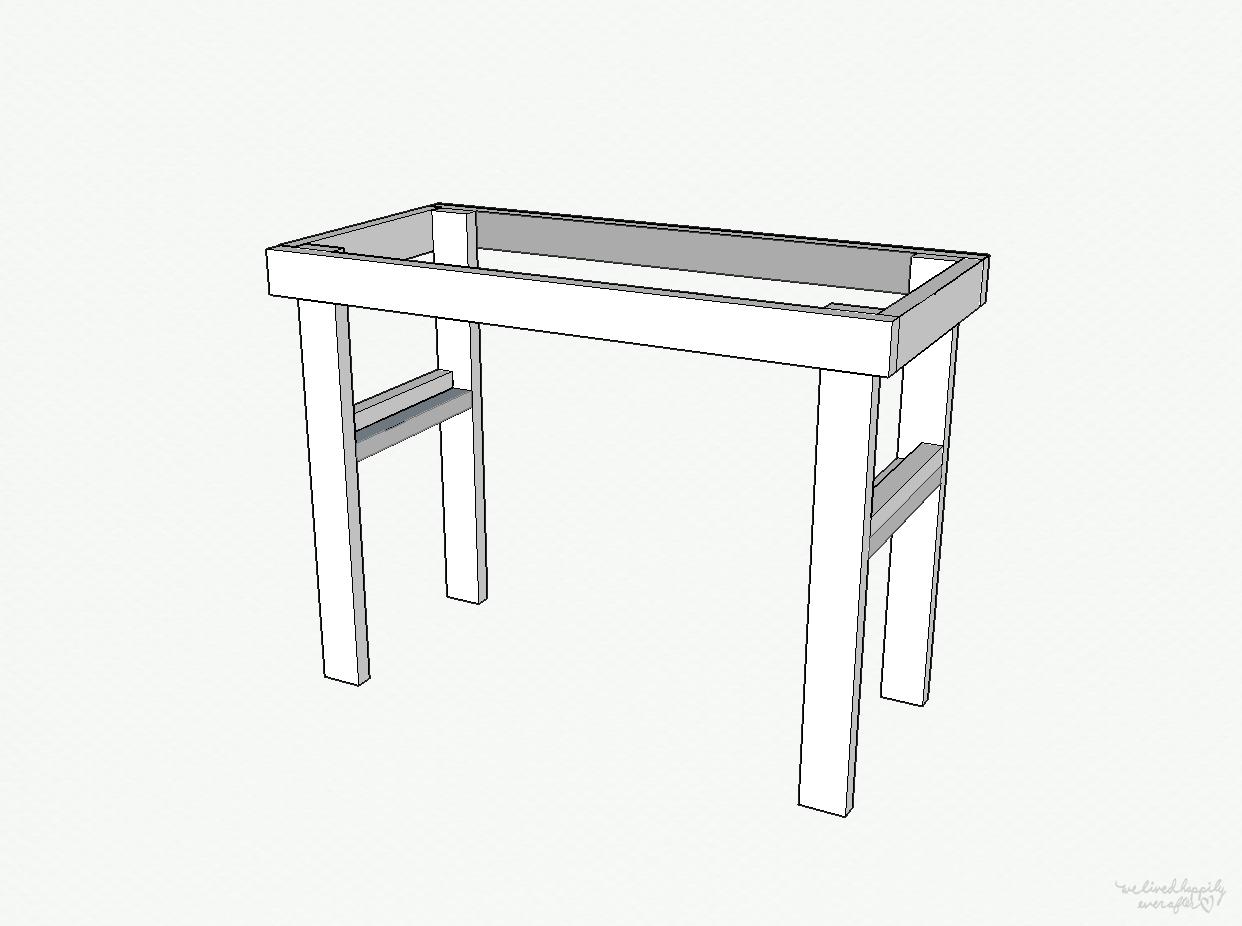 Diy pallet kitchen island work table with plans with for Kitchen work table plans