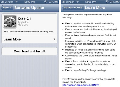 Apple iOS 6.0.1 IPSW Firmware