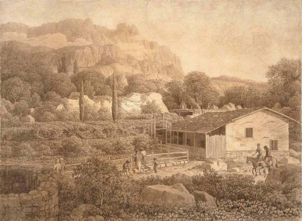 Картина Алупка. Карл фон Кюгельген. 1806 год