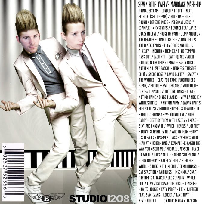 STUDIO 1208 creates custom Jedward cd cover for bride and groom