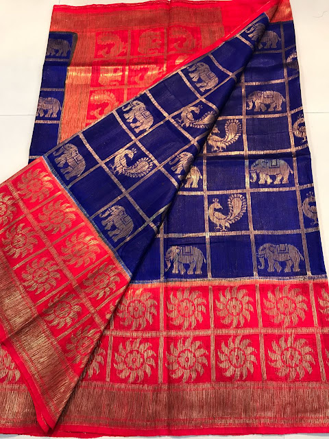 d4d471376f652c Exclusive Latest banaras handloom dupion silk Saree with nice color  combinations paired with big border . These are latest and fast moving  sarees .