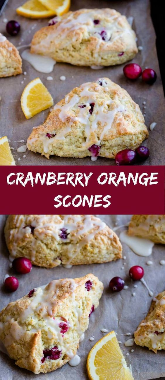 Cranberry Orange Scones #cranberry #scones