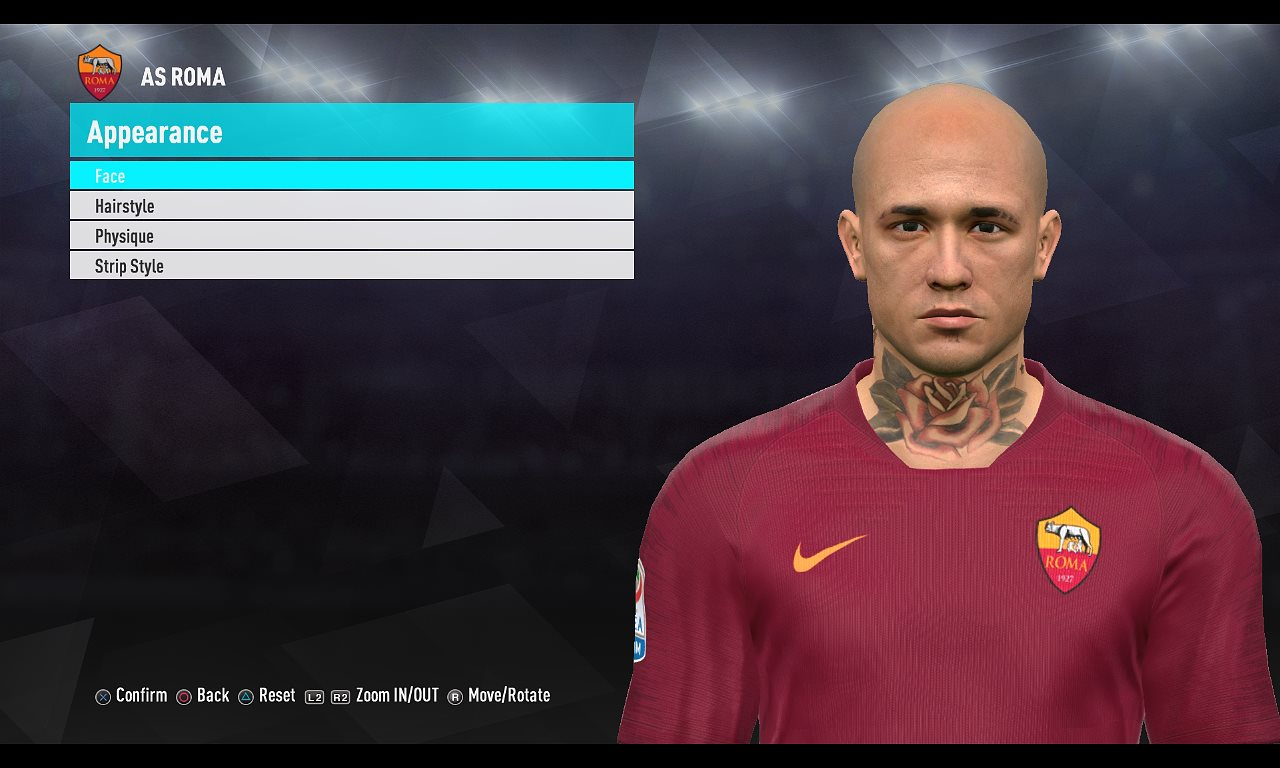 PES 2017 Nainggolan (Bald n Toothless) by Ugly Thing