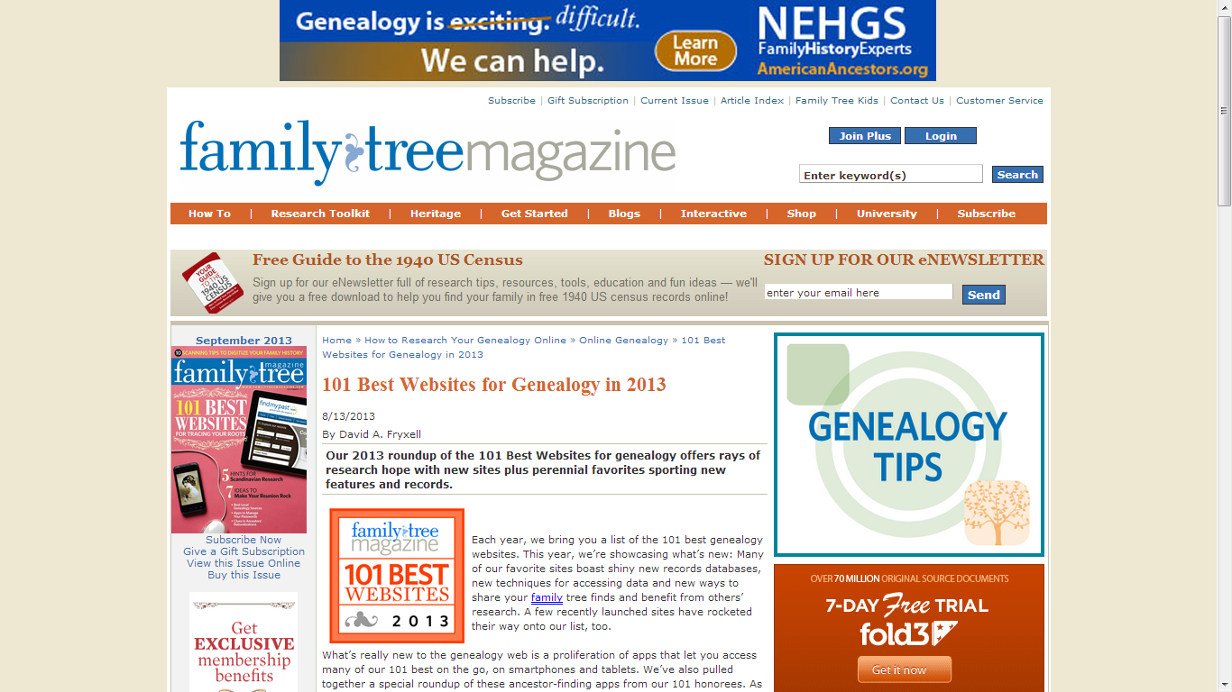 Genea-Musings: Family Tree Magazine's