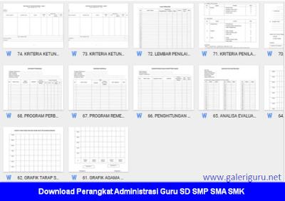 Perangkat Administrasi Guru SD SMP SMA SMK 2017 - Galeri Guru