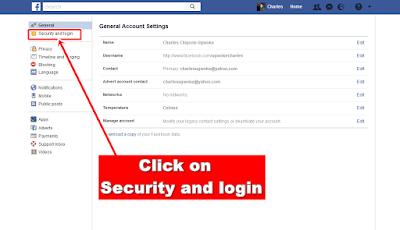 Facebook-security and login