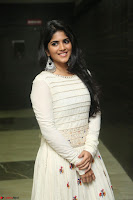 Megha Akash in beautiful White Anarkali Dress at Pre release function of Movie LIE ~ Celebrities Galleries 022.JPG
