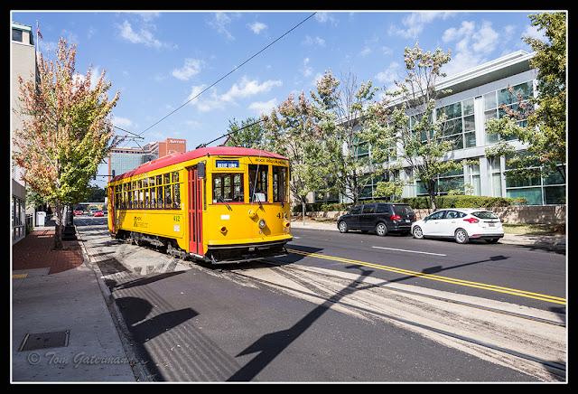 Trolley 412 on East Markham Street in Little Rock, AR