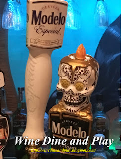 Keg beer handle for Modelo at Nuevo Cantina in St. Petersburg, Florida