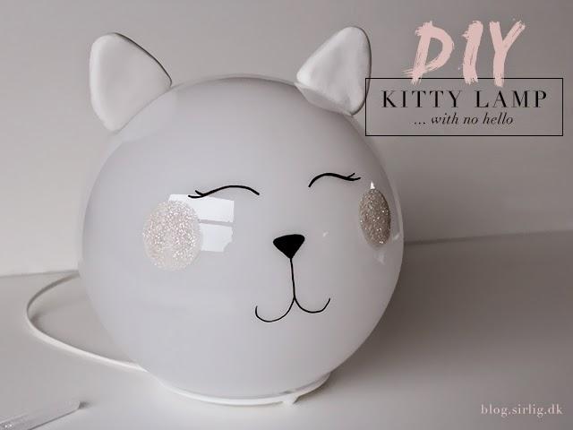 diy kitty lamp fado ikea hack sirlig. Black Bedroom Furniture Sets. Home Design Ideas