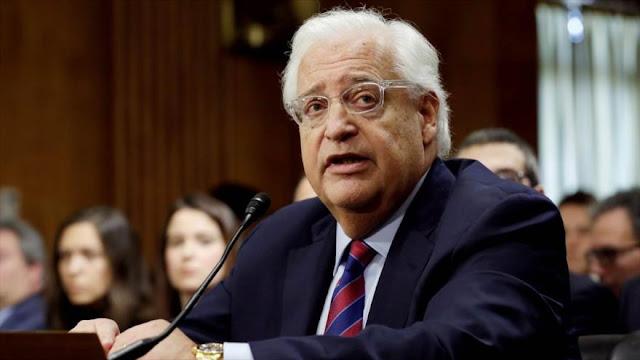 Palestina pide poner al embajador de EEUU en lista de terroristas