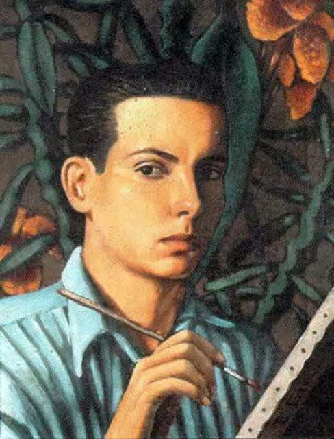 Enrique Grau Araújo, Self Portrait, Portraits of Painters, Fine arts, Portraits of painters blog, Paintings of Enrique Grau, Painter Enrique Grau