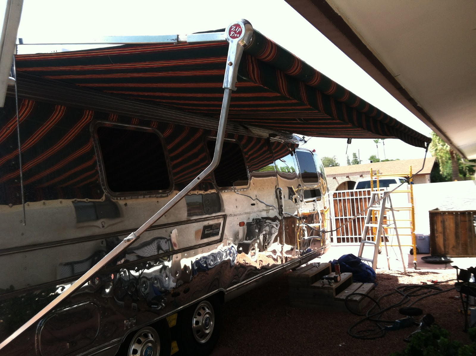 Airstream Renovation: Airstream awning Installation with ...