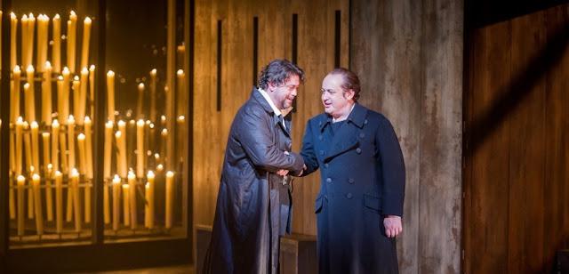 David Stout, Stefano Secco - Verdi Don Carlo - Grange Park Opera - photo Robert Workman