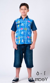 Model baju batik anak laki-laki untuk sehari-hari
