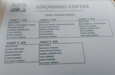 Gak Cuma Kopi, Anonimo Coffee Juga Menyajikan Santapan Nusantara