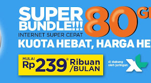 MNC Vision Internet Super Bundle XL 4G LTE 80GB