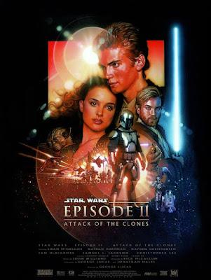 gwiezdne wojny atak klonów film recenzja plakat natalie portman
