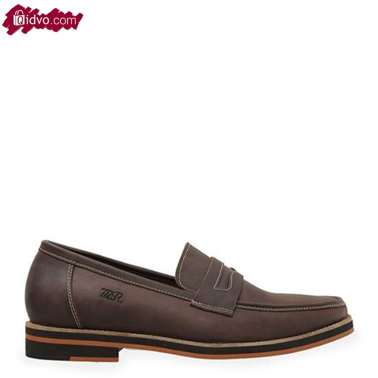 Sepatu Kulit Mens Republic Brawny Loafer - Brown