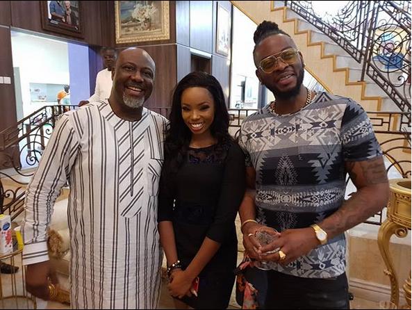 BBNaija-Dino-Melaye-hosts-Bambam-Teddy-A-in-Abuja