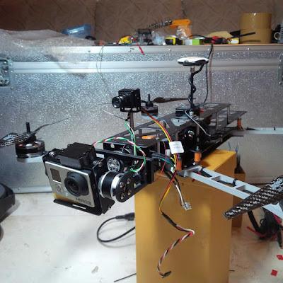 Proses Perakitan QAV 540 untuk Drone Fotografi era tahun 2013