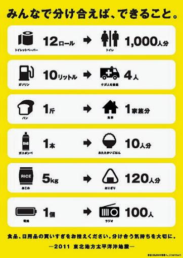 cnetJapan:「買い占めを止める」運動活発--わかりやすいポスターで喚起の輪