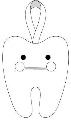 Eu Amo Artesanato Dente De Feltro Com Molde