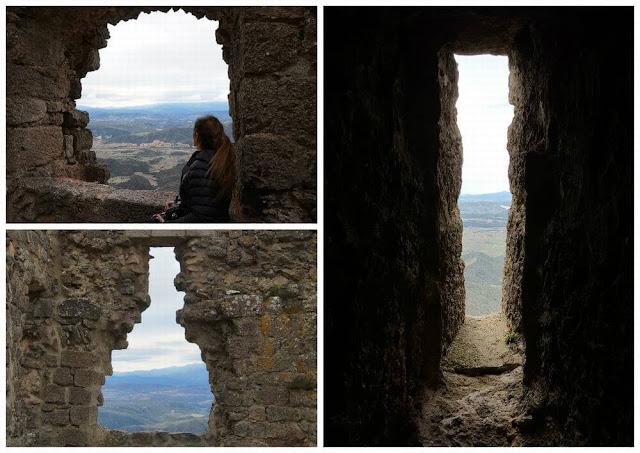 castillo de queribus ventanas