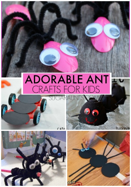 Ant insect crafts for kids. These are so cute!