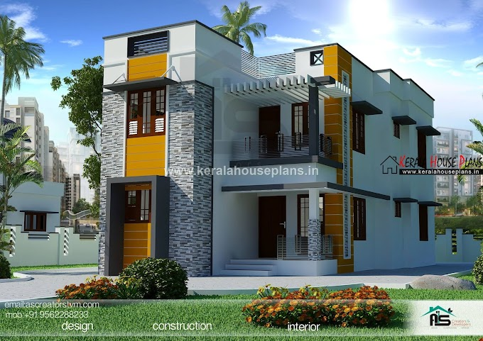 Kerala style house elevation and design 1625 sqft