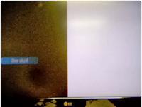 Síntoma en pantalla de tv LG LCD con la mitad en blanco