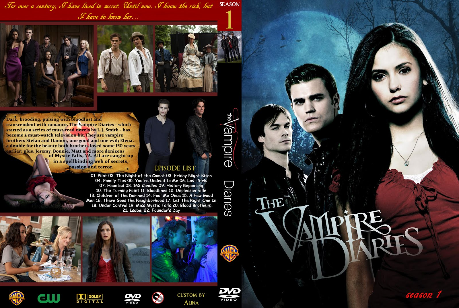 dvd covers and labels vampire diaries season 1 dvd cover