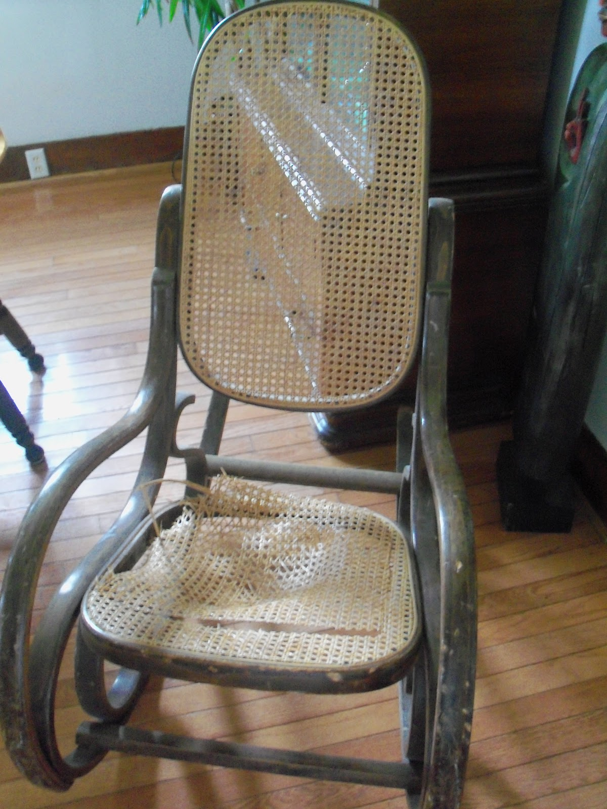 repairing cane seat chairs best office chair mat for hardwood floors shelly 39s vintage blog pressed repair of old rocking