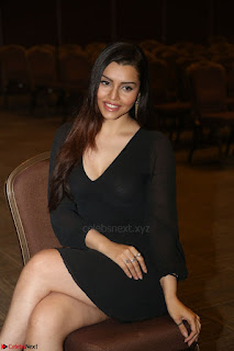 Kyra Dutta in black At Rogue Movie Audio Launch ~  020.JPG