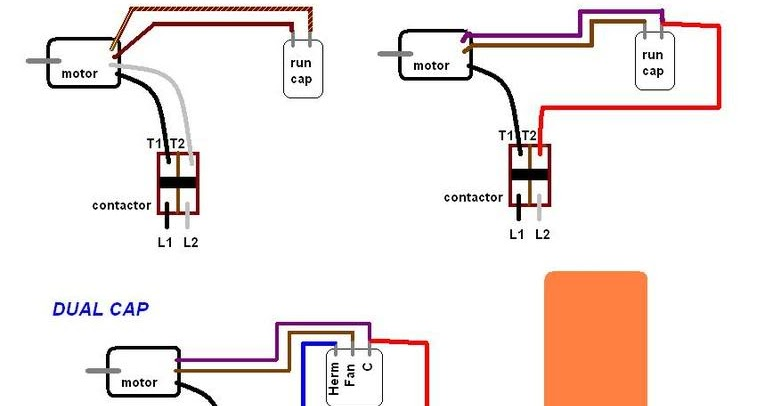 Ac Start Capacitor Wiring - Wiring Diagram M2 on