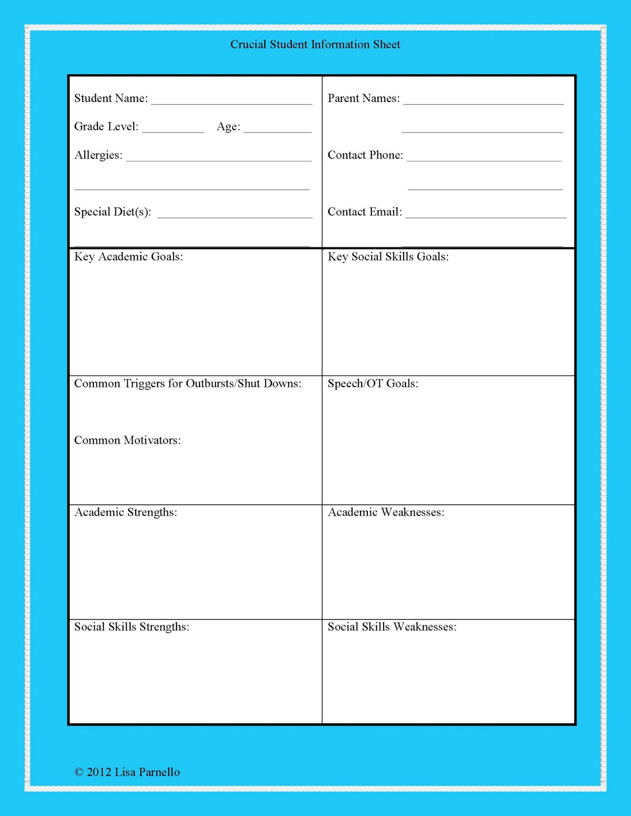 Blank Twitter Template For Students | White Gold