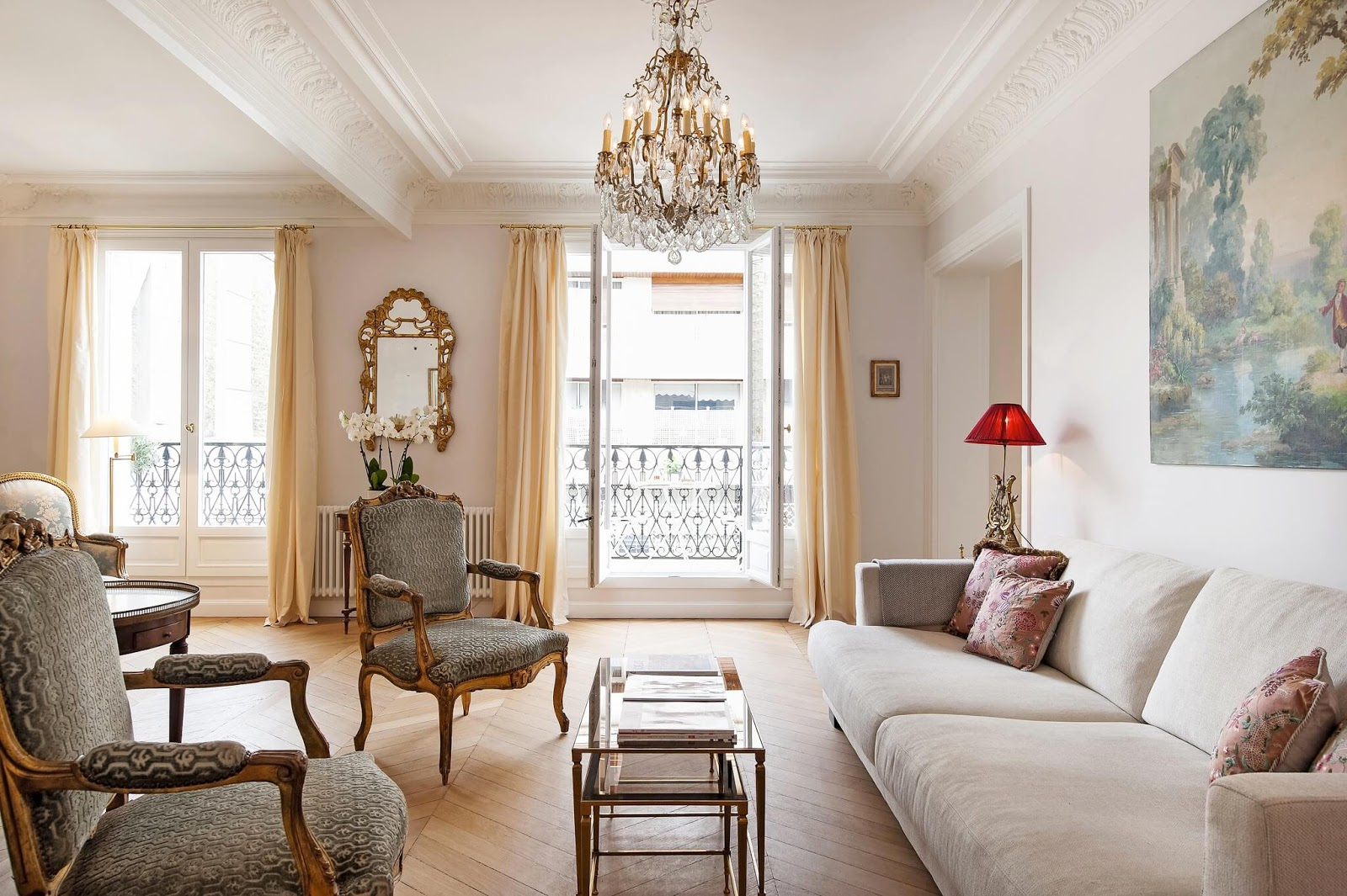 10 decorating ideas from a chic paris apartment hello lovely. Black Bedroom Furniture Sets. Home Design Ideas