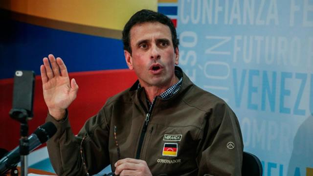 Capriles: Si Maduro hablara de un referéndum previo sería otra la situación