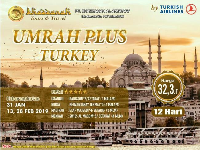 Paket Umroh Plus Turki 2019