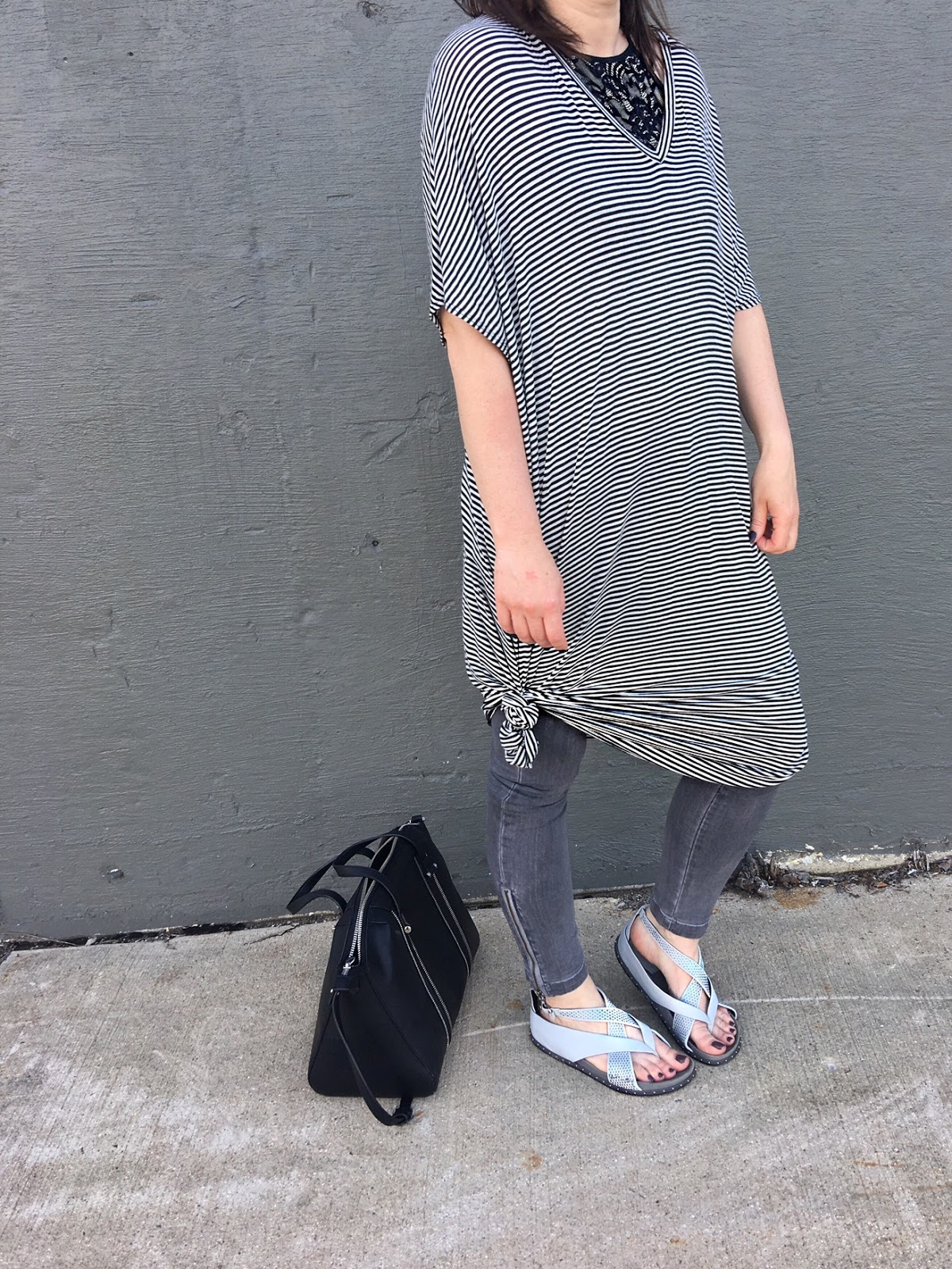 Long striped T-shirt dress