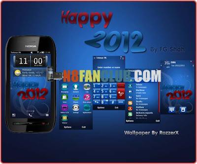Happy 2012 - New Year Theme - Nokia N8 - Symbian^3 - Anna
