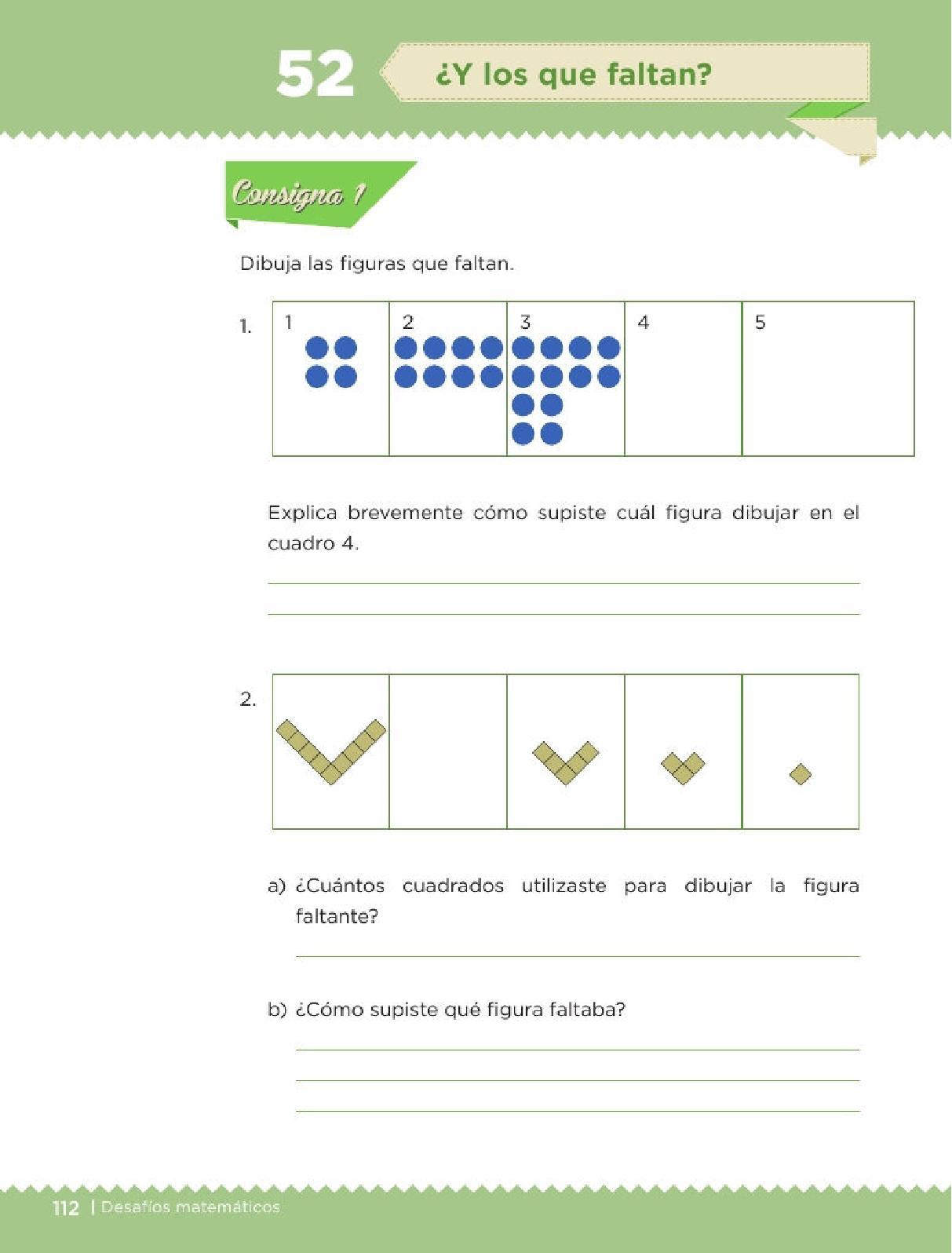... matemáticos 3ro. Grado Bloque IV Lección 52 ¿Y los que faltan
