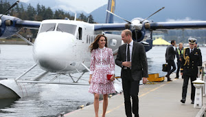 Kate and William take in Canada views from a sea plane