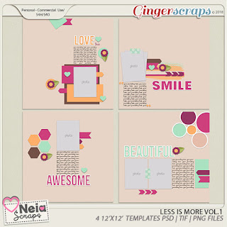 Creative Team, Annemarie, for Neia Scraps Designs - Good Luck - Mini Kit and $5 Grab Bag - Templates March Challenge  and Freebie Mini Kit for Ginger Scraps March 2018 MINI KIT Challenge