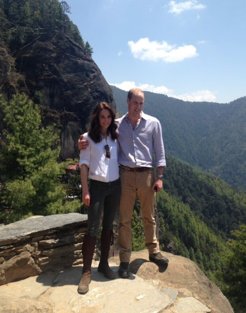 Prince William and Kate Middleton visit Paro Taktsang Monastery