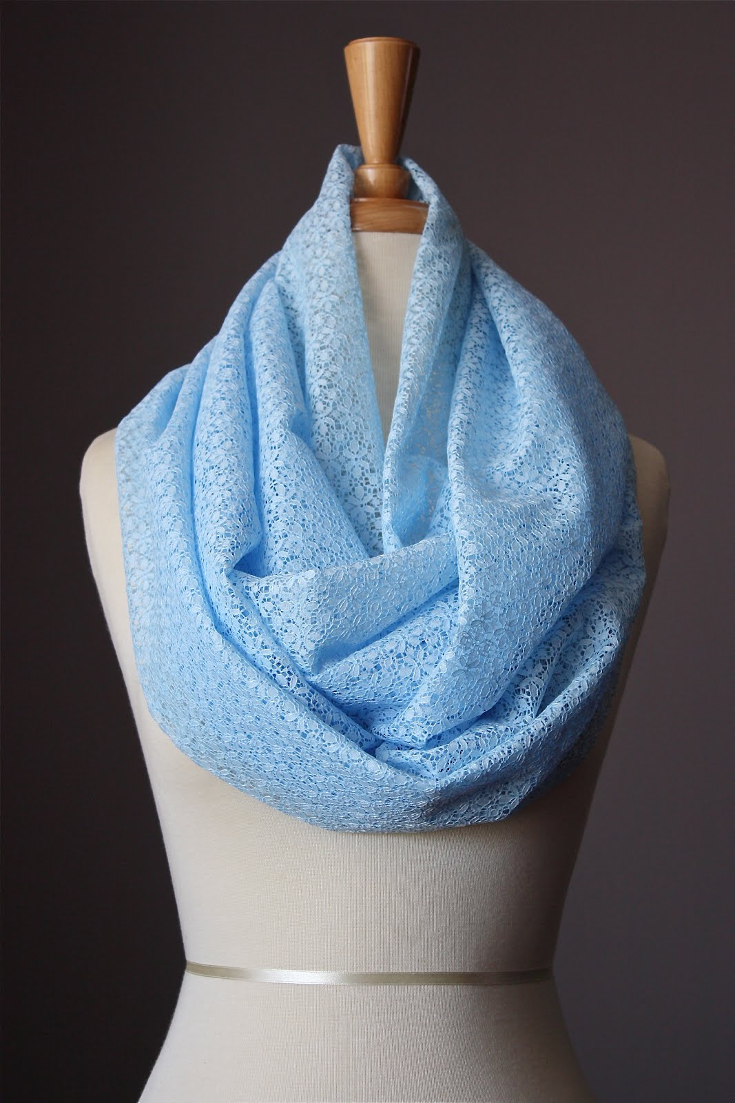 Laboratory of Fashion Lacy Infinity scarves for spring