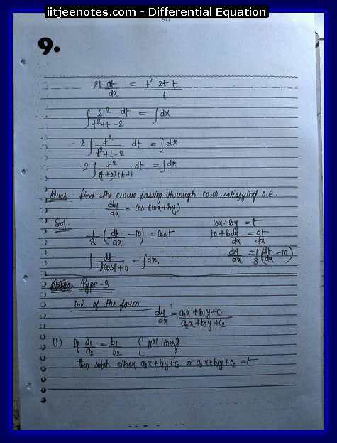 differential equation9