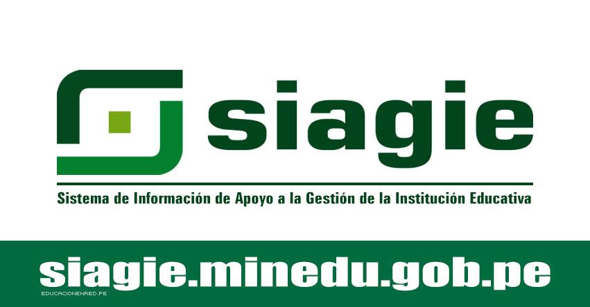 MINEDU: Formulario de Ayuda SIAGIE 2018 [VIDEO] www.minedu.gob.pe