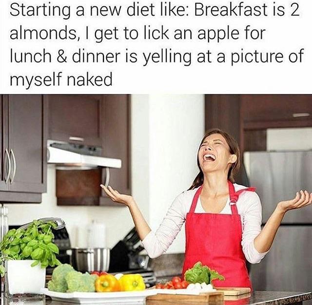 Funny new diet meme joke picture
