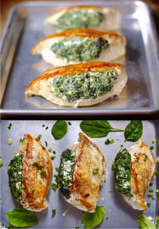 SPINACH STUFFED CHICKEN BREASTS HEALTHY RECIPE